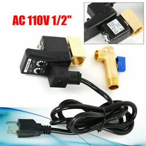 Electronic Timed 2 way Air Compressor 1 2 Gas Tank Auto Drain Valve W Us Plug