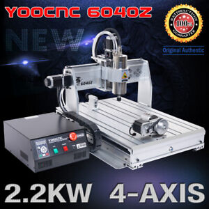 usa 2 2kw 4 Axis 6040 Usb Mach3 Cnc Engraving Drilling Mill Router Machine 110v