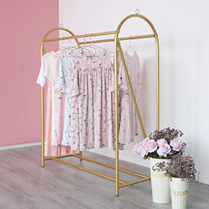 Gold Clothing Rack Retail Display Heavy Duty Clothes Garment Rack For Boutiques