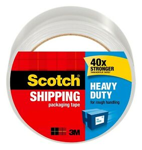 Scotch Heavy Duty Packaging Tape 1 88 Inch X 54 6 Yards Clear 1 Roll