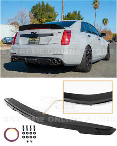 For 14 19 Cadillac Cts Carbon Package Glossy Black Rear Wing Wickerbill Spoiler