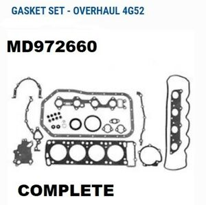 Md972660 Mm115891 Md023983 3768089 O h Gasket Set For Mitsubishi 4g52 Jt190