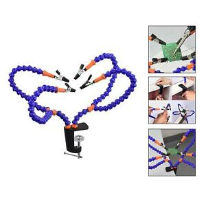 Flexible Arm Third Hand Soldering Station Stand Clamp Holder Non Slip Base