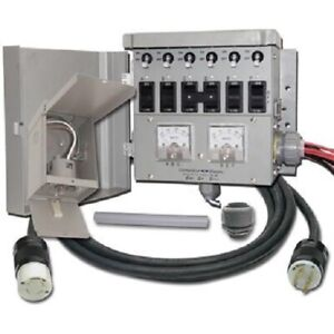 6 Circuit 30amp Manual Transfer Switch Kit With Power Inlet Box