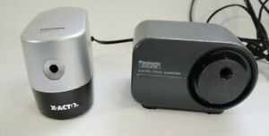 Panasonic Kp 350 Electric Pencil Sharpener Silver X acto Sharpener Lot Of 2