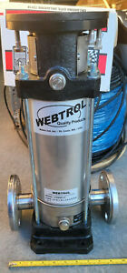 Webtrol Booster Vertical Centrifugal Water Pump Kit Stainless V20b8slm No Motor