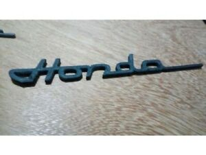Emblem For Honda Old Vintage Script Badge Classic Decal Black Logo Car Auto Moto