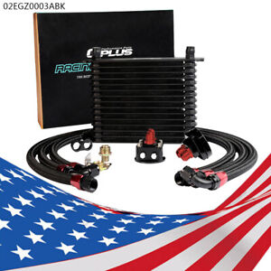 15 Row Universal Engine Aluminum An10 Oil Cooler Filter Relocation Kit