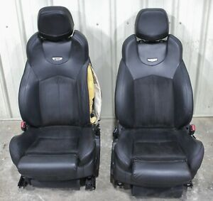 2009 2015 Cadillac Cts v Black Leather W Suede Recaro Front Seats Used Oem Gm
