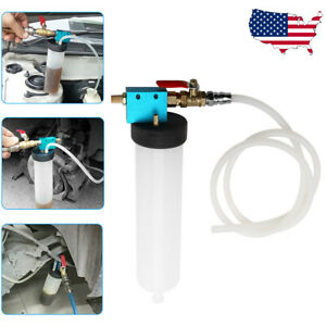 Pneumatic Brake Fluid Bleeder Kit Auto Air Extractor Pump Oil Bleeding Tool I2n3