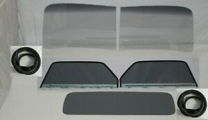 Glass 1947 1950 Chevy Gmc Pickup 2pc Windshield Assembled Door Back Grey Seals