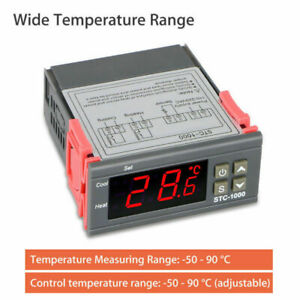 New Stc 1000 Digital Lcd Temperature Controller Switch Thermostat W Ntc Sensor