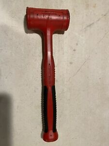 Snap On Red 32 Oz Dead Blow Soft Grip Handle Hammer Hbfe32