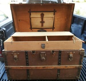Vintage Chas T Wilt Chest Trunk W 2 Inner Trays Pickup San Diego Or Temecula