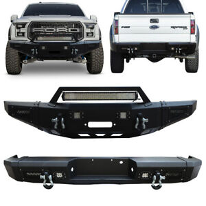 Vijay Front And Rear Bumper With Winch Plate For 2010 2014 Ford F 150 Svt Raptor