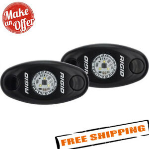Rigid Industries 482033 A Series Cool White Led Rock Lights Pair