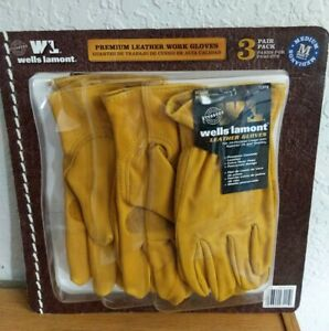 Wells Lamont Premium Cowhide Leather Work Gloves Medium