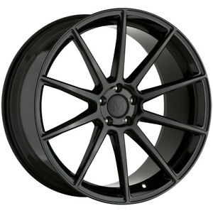 Staggered Mandrus Klass 20x8 5 20x10 5x112 42mm Gloss Black Wheels Rims