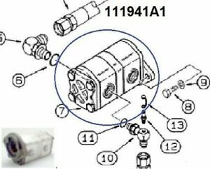 New 111941a1 Case 460 Trencher Hydraulic Gear Pump