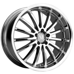 Mandrus Millenium 18x9 5 5x112 53mm Chrome Wheel Rim