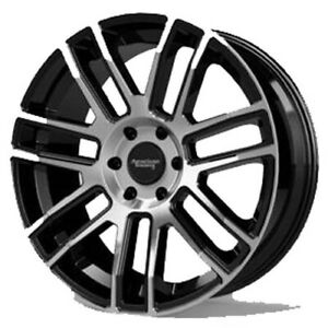 4 american Racing Ar915 17x8 5 6x5 5 15mm Black machined Wheels Rims 17 Inch