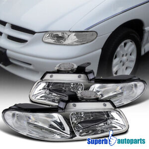 For 1996 2000 Dodge Caravan Chrysler Town Country Headlights Lamps