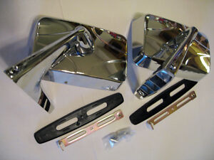 Ford Meteor Falcon Ranchero 57 79 Pair Chrome Door Mirror Pair Right And Left