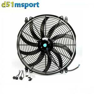 16 12v Universal Electric Curved Blade Reversible Cooling Fan Mounting Kits