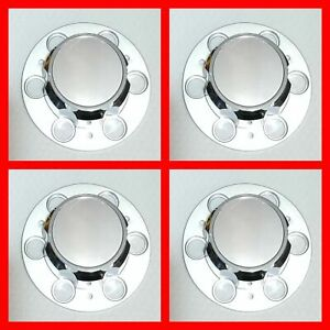 4pc Chevrolet Sliver Truck Caps Of 6 Lug 15 15x8 Rally Wheel Center Hub Cap