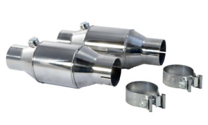 A Pair 2 Pypes Cvm10k High Flow Catalytic Converters Ford Mustang 1986 2014