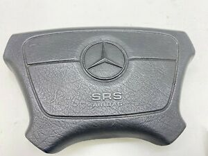 1998 Mercedes W140 S320 Front Steering Wheel Leather Horn Cover Oem