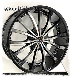 22 Gloss Black Machined Vct V63 Mancini Wheels Fits Dodge Charger Rwd 5x115 15