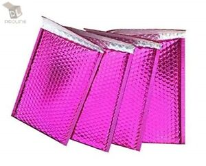 50 000 Glamour Metallic Pink Poly Bubble Mailers Envelopes Bags 4x8 Extra Wide