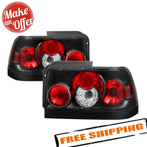 Spyder 5007407 Black Euro Style Tail Lights For 1993 1997 Toyota Corolla