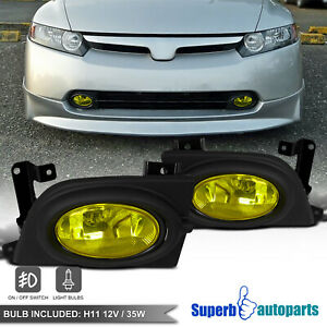 For 2006 2008 06 08 Honda Civic 4dr Sedan Bumper Fog Lights Driving Lamp Switch