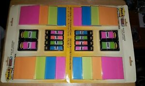 Post it Super Sticky Notes Flags Combo Lot 2 Packs Rio De Janeiro Collection