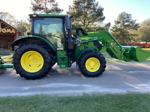 John Deere 6110r Tractor Low Hours Frontend Loader Hx15 Commercial Bush Hog