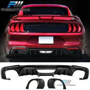 Fits 18 20 Mustang Rock Ecoboost Rear Diffuser Single Outlet Muffler Tip