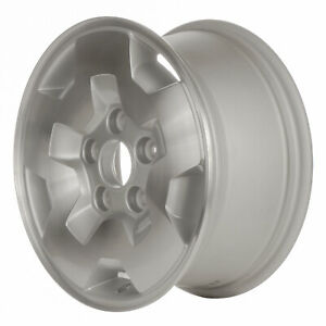 Oem Used 15x7 Alloy Wheel Medium Silver Sparkle Painted With Machined Face 5031