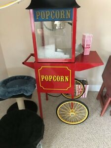 Popcorn Machine On Stand With Accessories