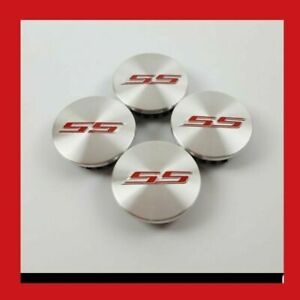 4x 2 5 Ss Abs Silver Red Chevrolet Emblem Wheel Center Hub Cap Badge New