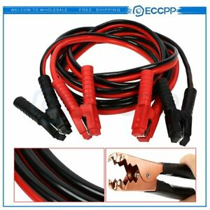 Heavy Duty 12 Ft 10 Gauge Power Booster Jumper Cables Emergency Car Truck New