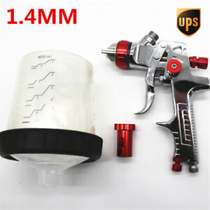 1 4mm Nozzle With Adapter For Pps Tank Hvlp Spray Gun Auto Feed Paint Spray Gun