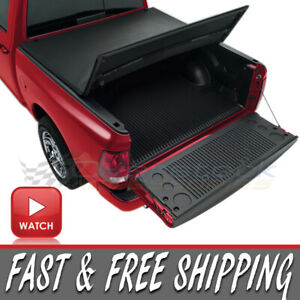 New Tri Folding Tonneau Cover For Classic 2009 21 Dodge Ram 1500 Crew 5 6ft Bed