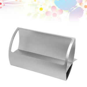 1pc Name Card Holder Metal Aluminum Alloy Card Stand For Exhibition Office