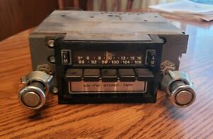 Vintage Ford Oem Am Fm 8 Track Tape Stereo Radio 4 With Knobs And Wiring