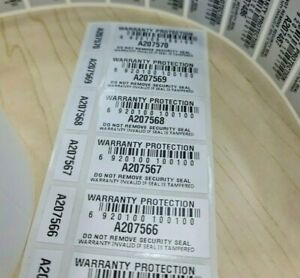 Warranty Void Stickers Double Labels Tamper Proof Evident Security Seal 2 part