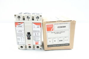 Federal Pioneer Ce3030h Molded Case Circuit Breaker 3p 30a 600v ac