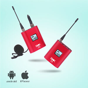 Wireless Lavalier Microphone System Mini Rechargeable UHF Wireless Microphone $55.99