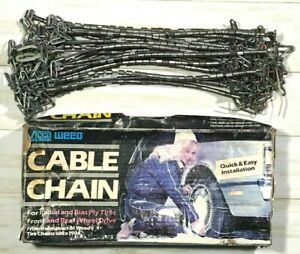 Acco Weed Cable Chain Snow Traction Cables Fit 14 15 Rims Nib